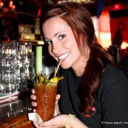 Red Bar Girl Bloody Mary