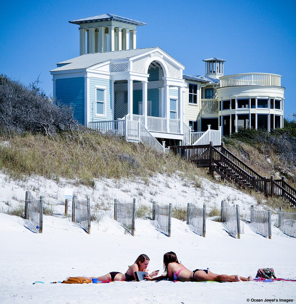Seaside Florida Girls and House