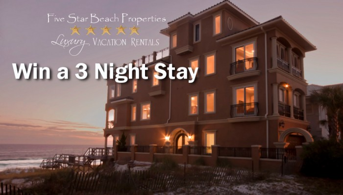 Five Star Beach Properties Giveaway