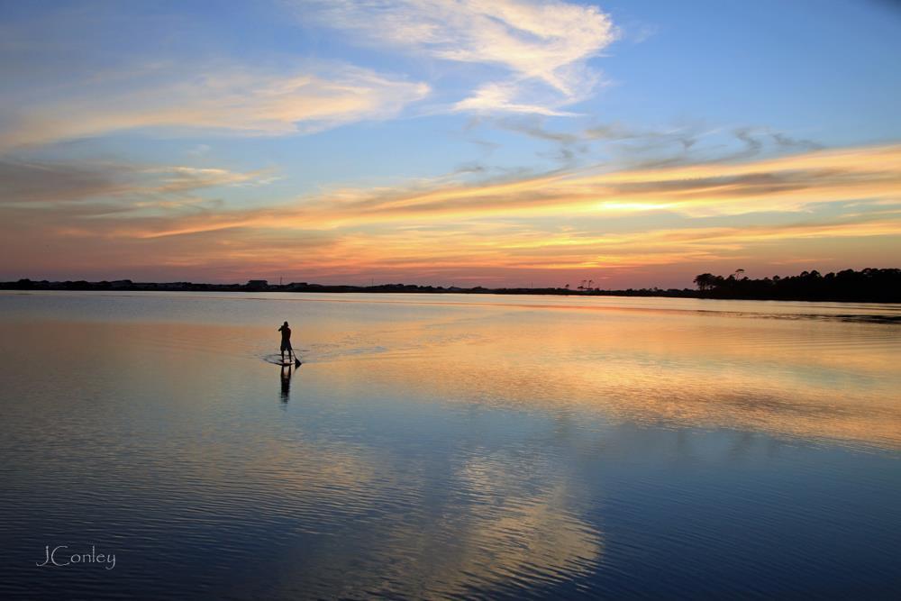 Western Lake YOLO Sunset by Jamie Conley