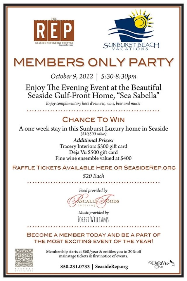 30A South Walton  VIP Party in Seaside This Tuesday!