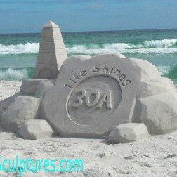 30A South Walton 30A sand sculpture 252x252 30A Stickers Around the World
