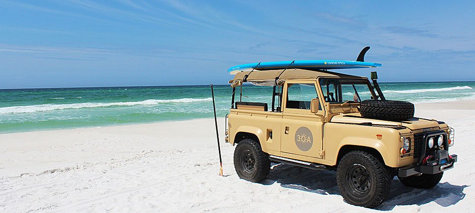 30A South Walton 30A Land Rover with YOLO Board 960v1 Meet Truman ... 30As Official Mascot!
