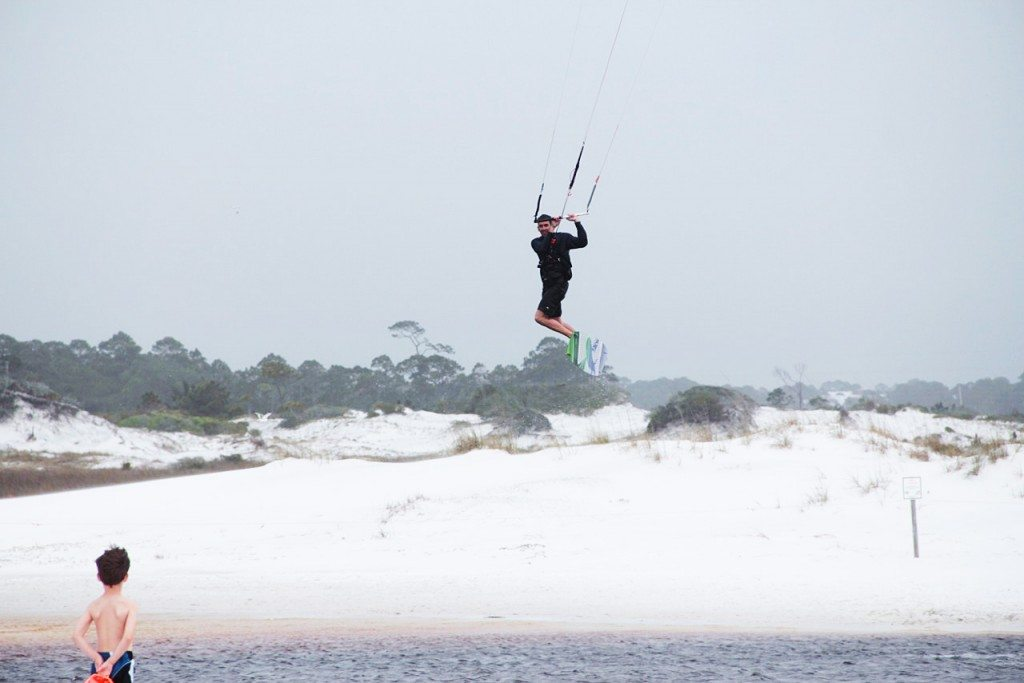 Kiteboarding On Grayton Beach 30a