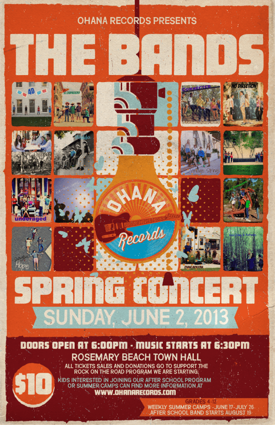 30A South Walton spring concert Ohana Records Student Concert on June 2