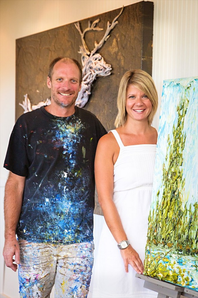 30A South Walton ART of Giving Justin Gaffrey and Tiffanie Shelton 682x1024 ART of Giving Event at Justin Gaffrey Studio   Gallery
