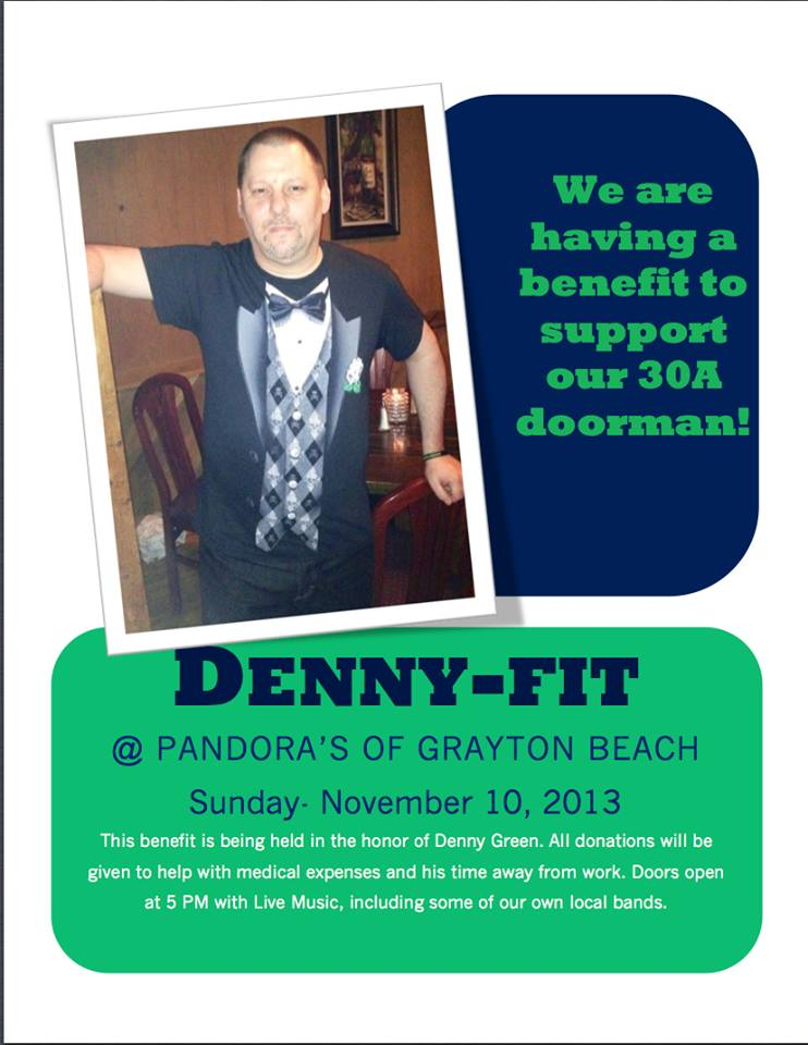 30A South Walton Dennyfit A Special Denny fit Party at Pandoras on Nov 10