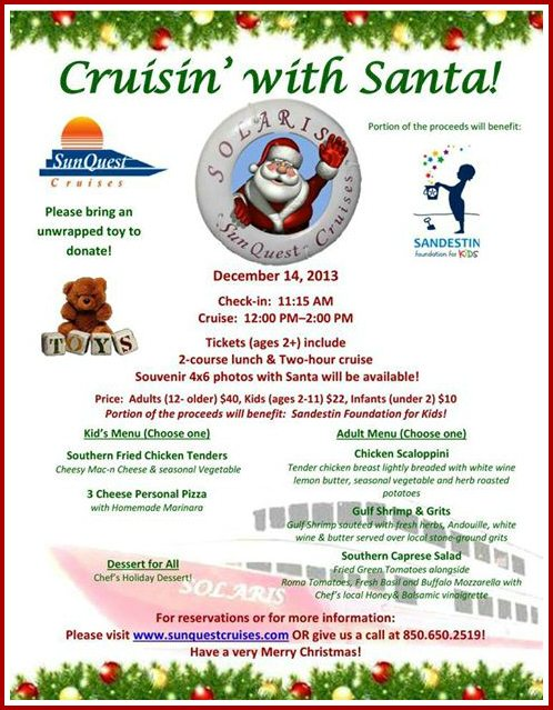 30A South Walton 1463151 562798467133636 1794276894 n1 Take a Santa Cruise Aboard The SOLARIS!