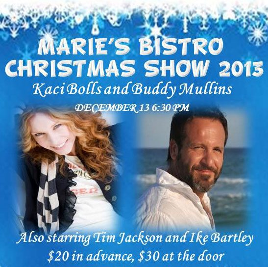30A South Walton Marie Christmas Special Christmas Show at Maries Bistro on Dec 13th