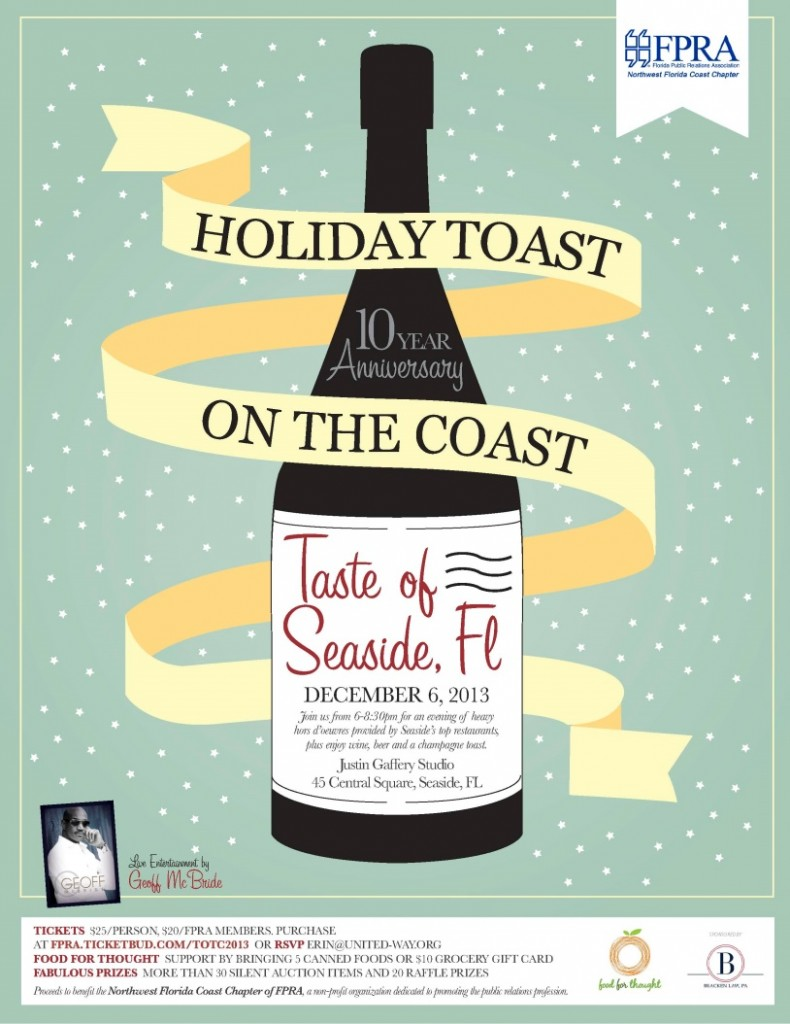 30A South Walton image001 790x1024 FPRAs Holiday Toast on the Coast    A Taste of Seaside
