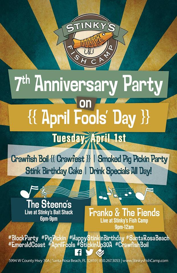 30A South Walton 1926714 609831269109984 1759474924 n Stinkys 7th Anniversary Bash and Pompano Tournament Kicks Off on April 1