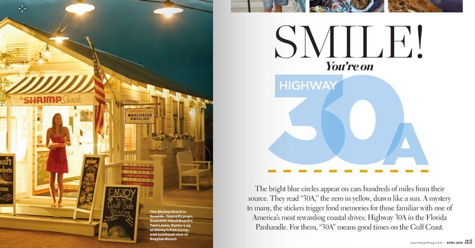 30A South Walton US Airways Magazine April 2014 30A Locals Featured in New Issue of U.S. Airways Magazine