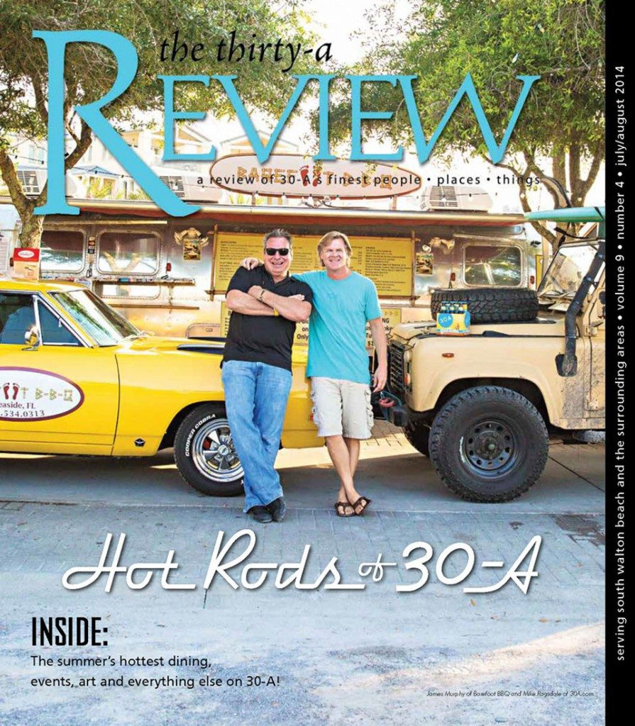 30A South Walton ThirtyA Review cover 960 895x1024 Thirty A Magazine Features The Hot Rods of 30A