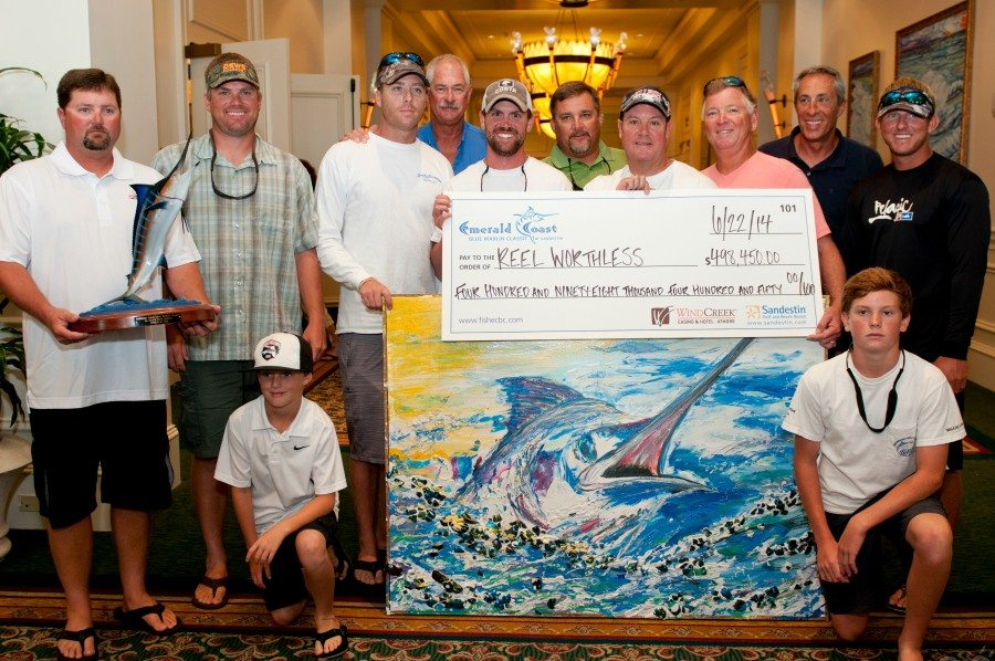 30A South Walton 2014 ECBC Top Marlin Reel Worthless Awards Record Payout Purse for 2014 Emerald Coast Blue Marlin Classic