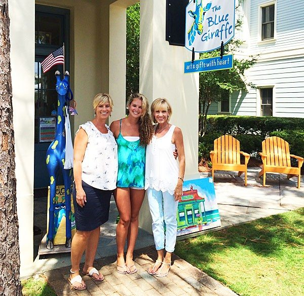 30A South Walton Blue Giraffe WaterColor Merchants Offer Everything Under the 30A Sun