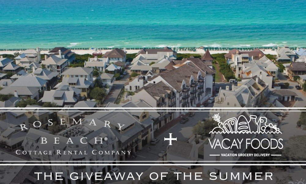30A South Walton rosemary giveaway Win a $5,000 Beach Vacation Courtesy of Rosemary Beach Cottage Rental Company and Vacay Foods!