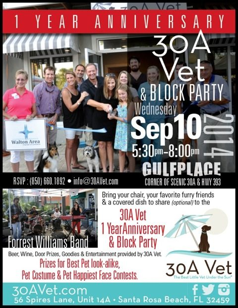 30A South Walton  30A Vets One Year Anniversary Block Party on Sept 10
