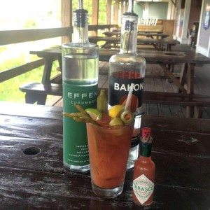 The Bloody MAry at Hurricane Oyster Bar & Grill