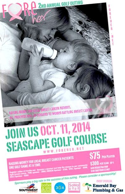 30A South Walton fore Second Annual Fore Her Golf Tournament on Oct 11