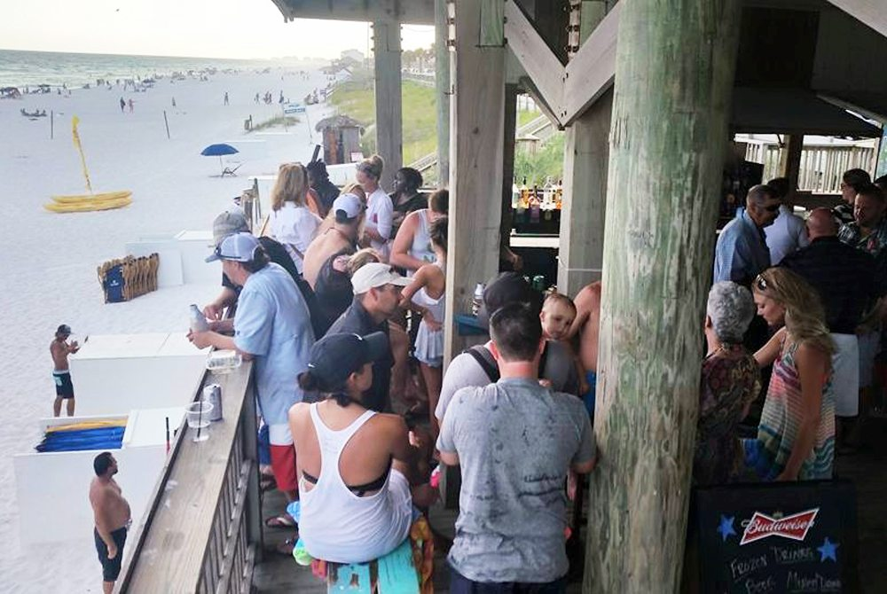Royal Palm Grille's Beach Bar is located right over the sand along the Gulf of Mexico.