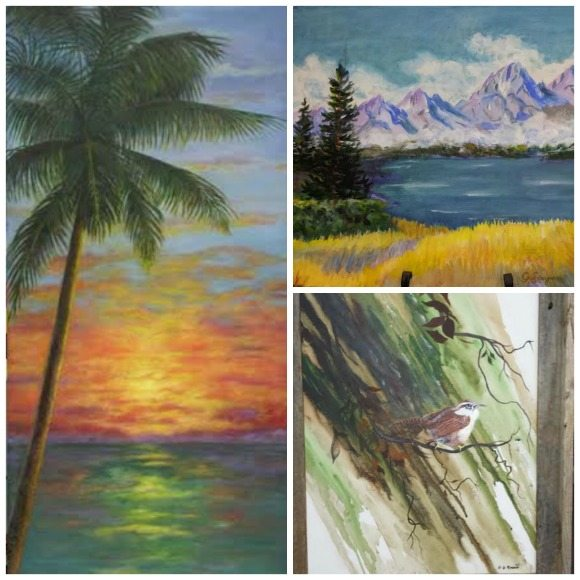 30A South Walton PicMonkey Collage Local Color Artists Club on Display