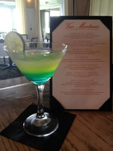Vue on 30A's signature cocktail, Emerald Coast Martini
