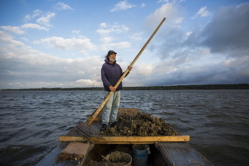 Oyster fisherman Kendall Schoelles in Appalachicola Bay (Who Owns Water)