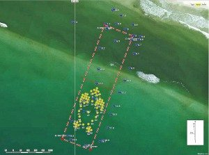 A rendering of the artificial reef being placed off Grayton Beach State Park.