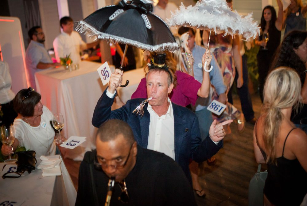 Bud & Alley's owner Dave Raushkolb at last year's CVHN Hurricane Party.