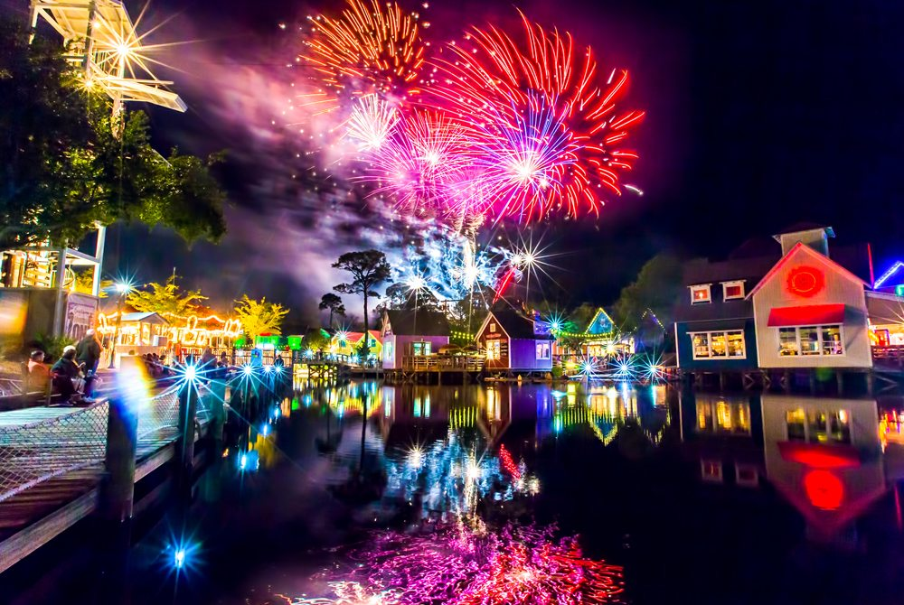 Fireworks at The Village of Baytowne Wharf. Photo by Sandestin.