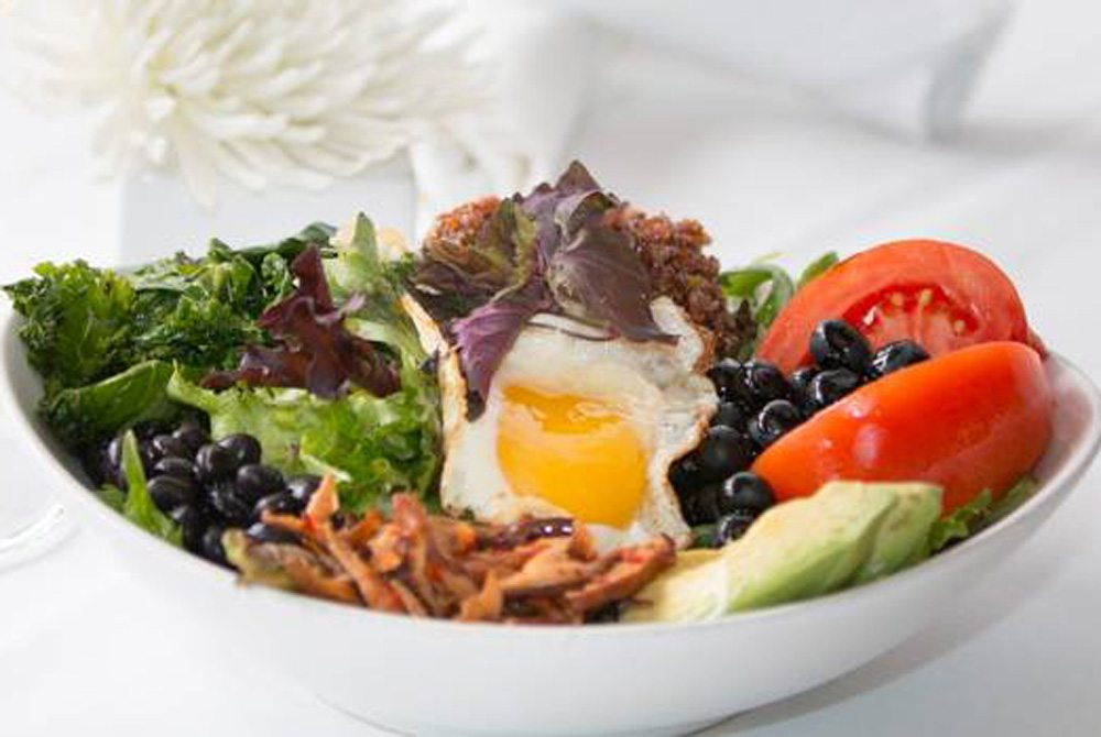 "The Abundance Bowl at George's at Alys Beach is a specialty on their ""Behave"" menu."