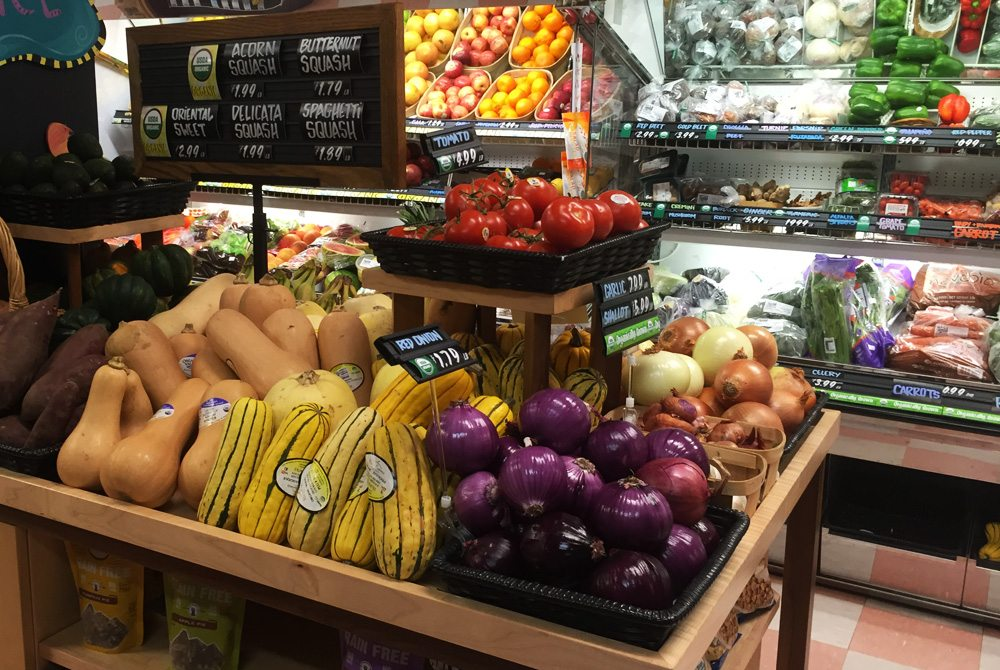 For the Health of It's produce section is all organic and non-GMO.