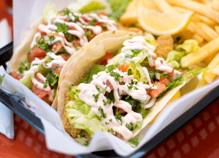 Yum, fish tacos! Photo from Grayton Seafood Co.