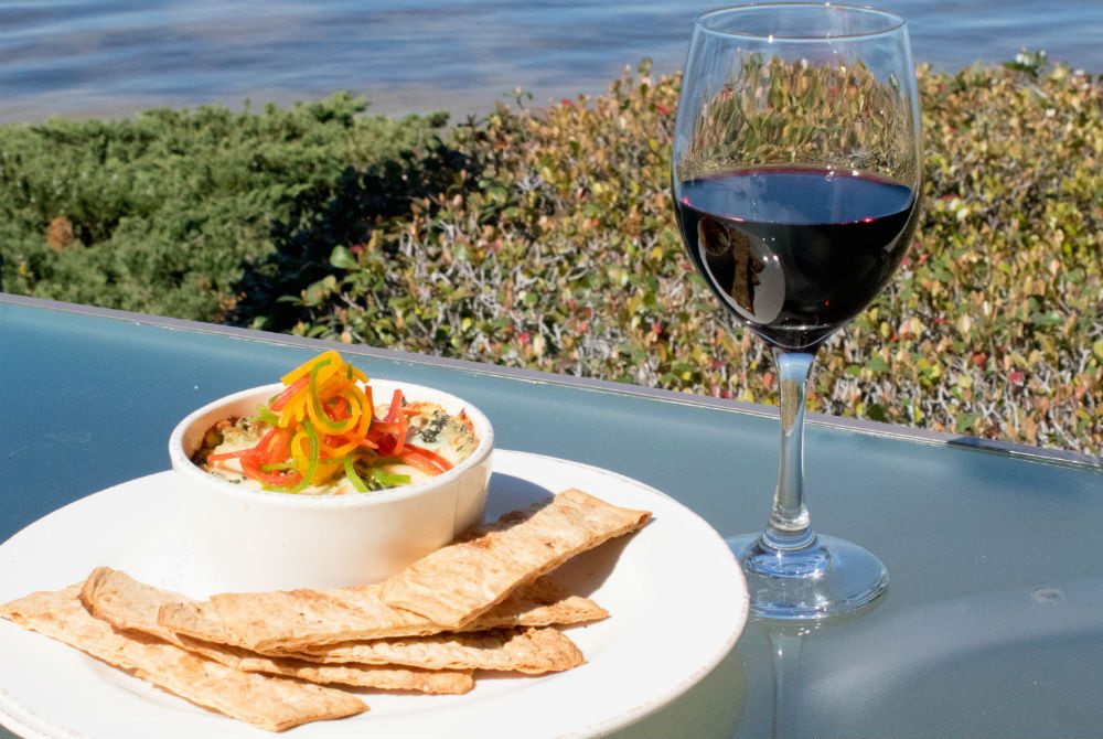 Enjoy Homemade Spinach And Artichoke Dip while admiring the breathtaking views