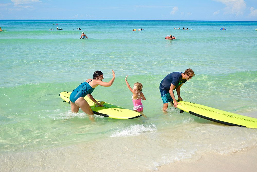 Surf and SUP camp teaches the basics of surfing, SUPing and having fun in the sun.