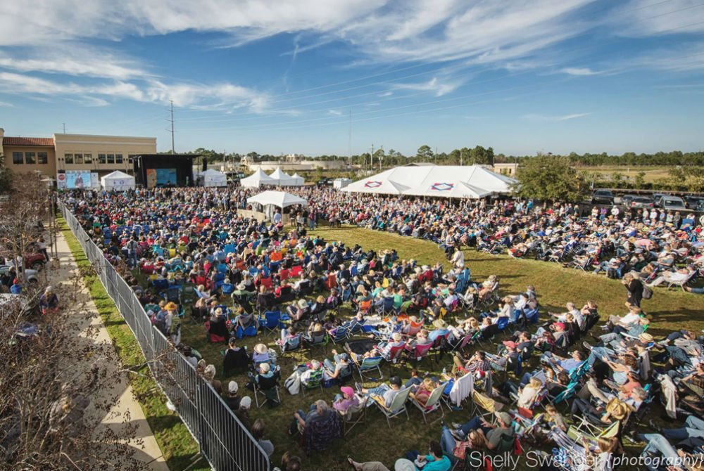 Thousands of people attended the main stage events at Grand Boulevard during the 2015 30A Songwriters Festival. Photo by Shelly Swanger.