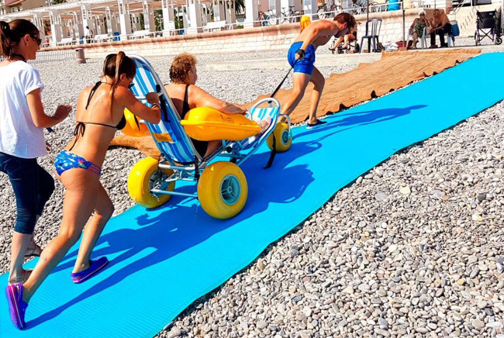 New Wheelchair Friendly Mats At Ed Walline Beach Access 30a