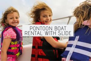 Pontoon Boat Rental With Slide