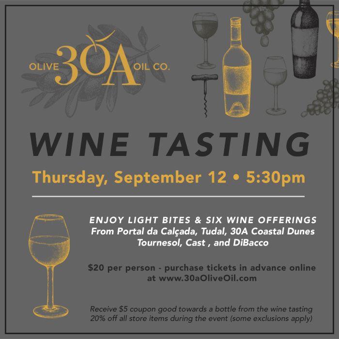 30A Olive Oil Co. Fall Wine Tasting