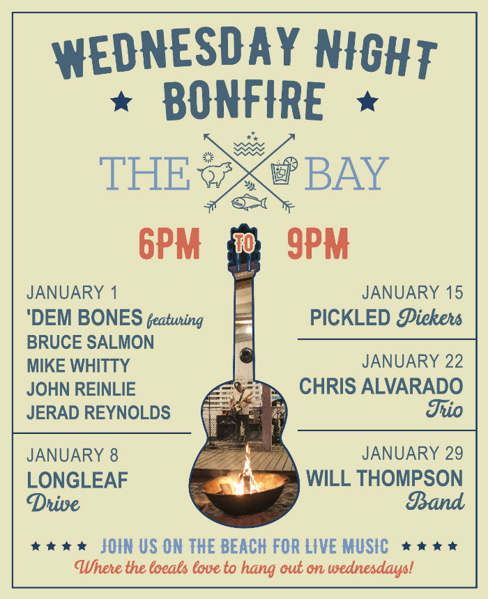 Bonfire on the Beach w/ Chris Alvarado Trio