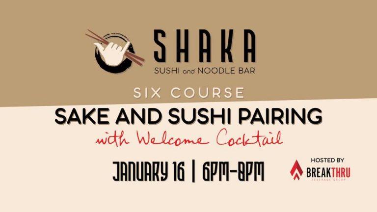Six Course Saké and Sushi Pairing