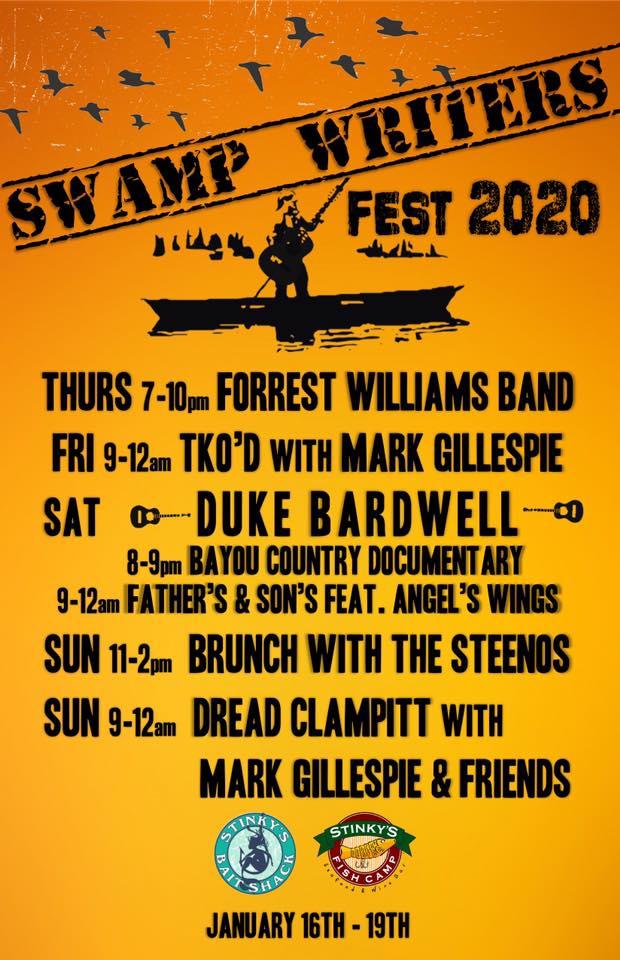 Swamp Writers Festival Weekend