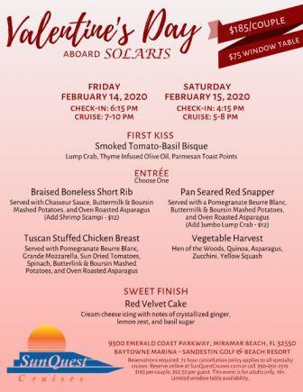 SunQuest Cruises Valentine's Sunset Dinner Cruise