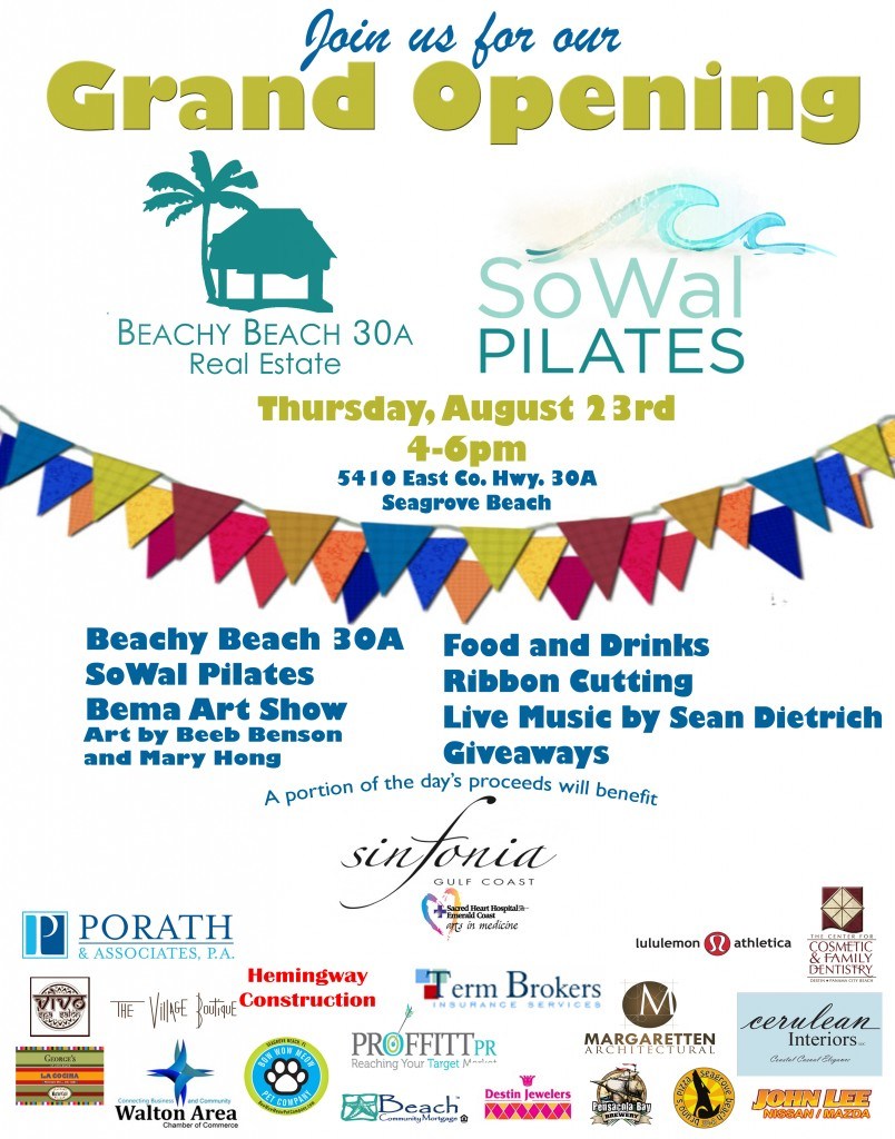 30A South Walton grandopening2 804x1024 SoWal Pilates & Beachy Beach 30A Team Up for Grand Opening